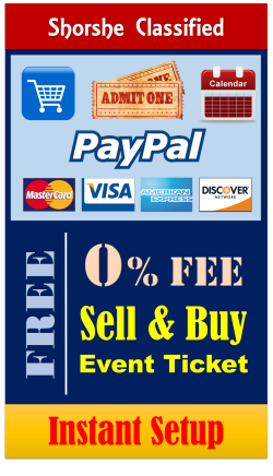 Sell your event ticket free