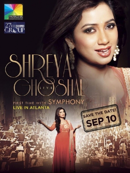 Shreya Ghoshal Live In Concert with Grand Symphony - Atlanta