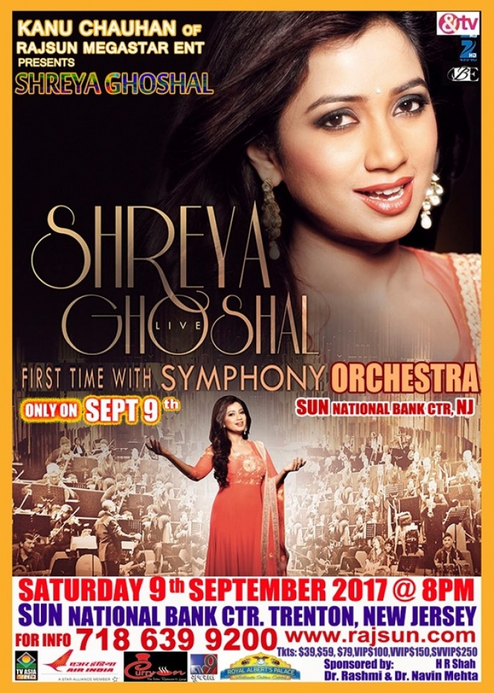 Shreya Ghoshal Live in Concert with Symhony Orchestra - NJ