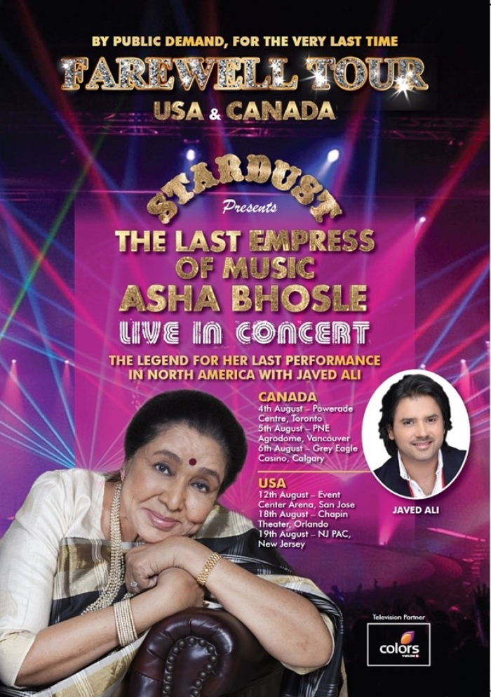 ASHA BHOSLE FAREWELL TOUR WITH JAVED ALI