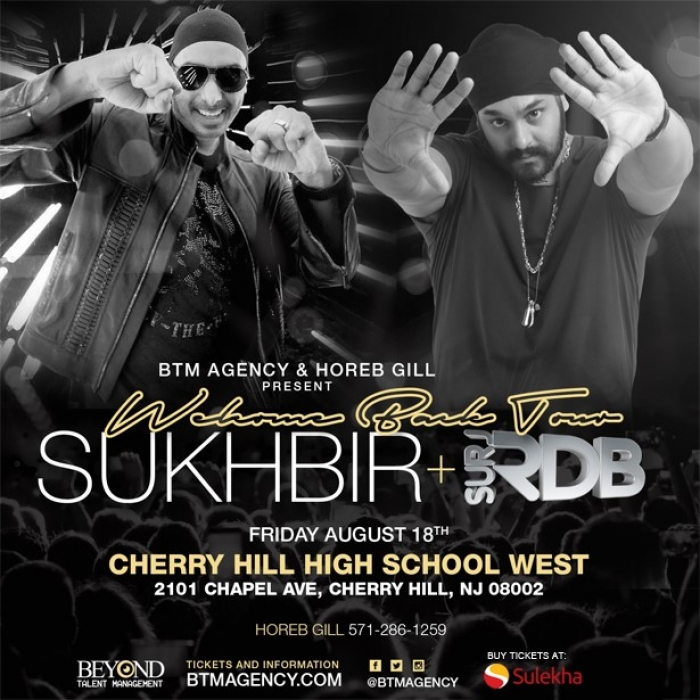 Sukhbir + Surj RDB LIVE - Welcome Back Tour New Jersey
