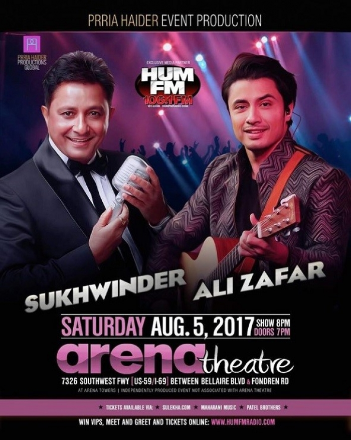 Ali Zafar & Sukhwinder Live in Concert - Houston