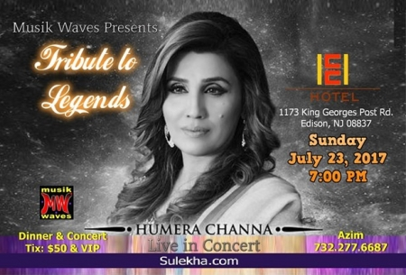 Humera Channa Live in concert NJ