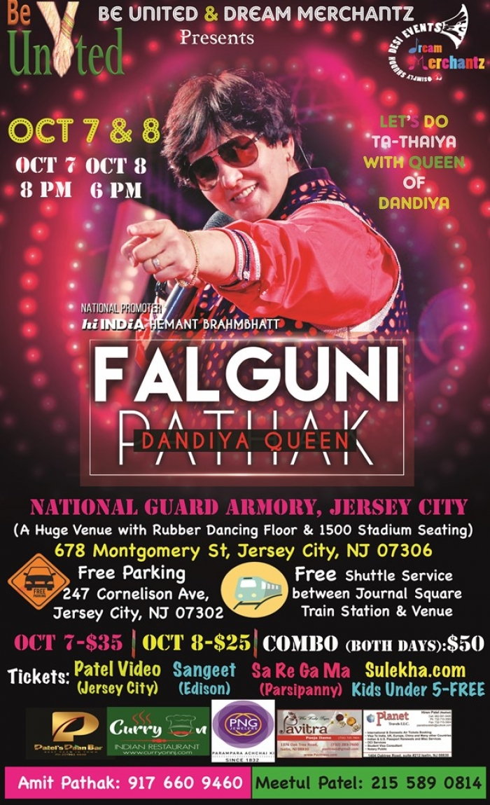 Falguni Pathak Dandiya & Raas Garba in NJ - Oct 7th & Oct 8th