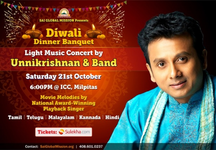 Unnikrishnan Live In Concert With Band and Diwali Dinner Banquet