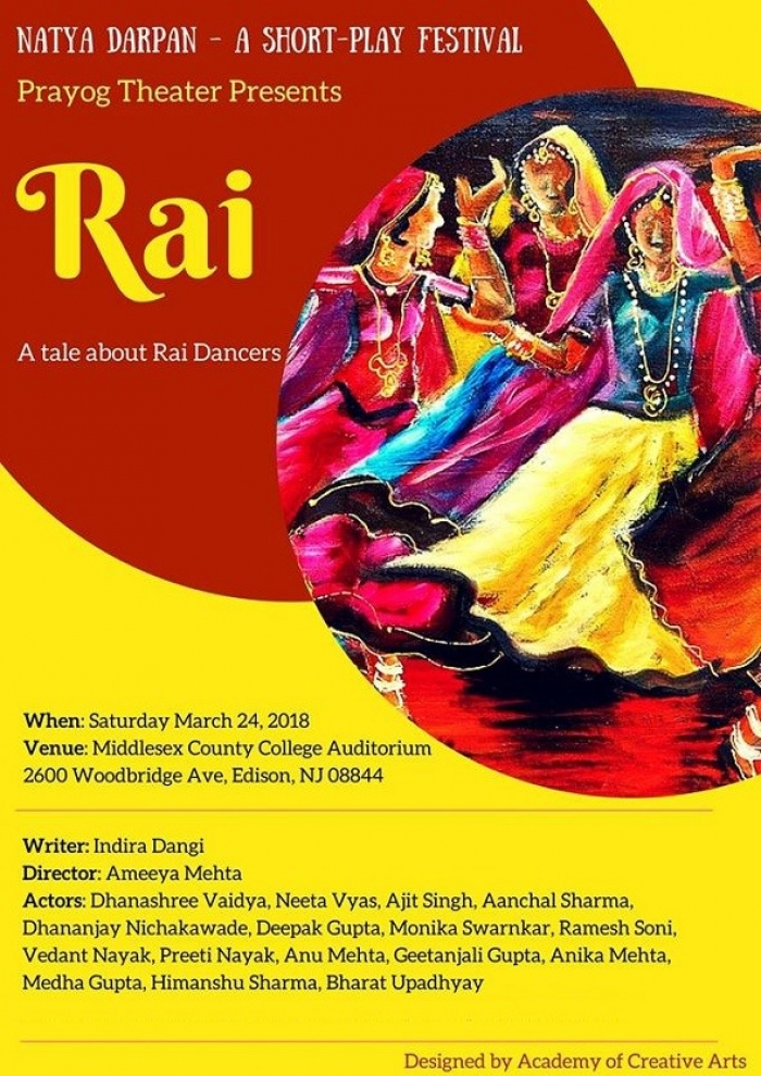 Prayog presents 'Rai' in Natya Darpan - NJ's Short-Play Festival