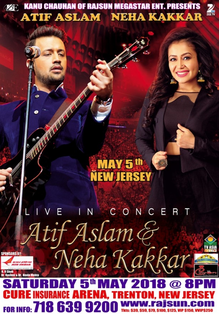 Atif Aslam and Neha Kakkar Live Concert in NJ
