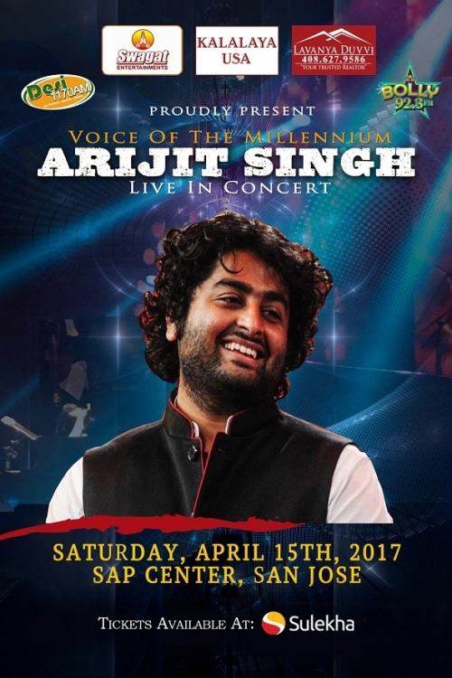 ARIJIT SINGH LIVE IN CONCERT - BAY AREA