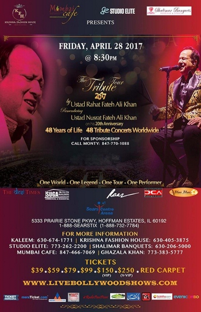 USTHAD RAHAT FATEH ALI KHAN CONCERT IN IL
