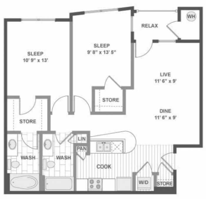 $850 - Private Bedroom In A 2 Bedroom / 2 Bathroom Apartment